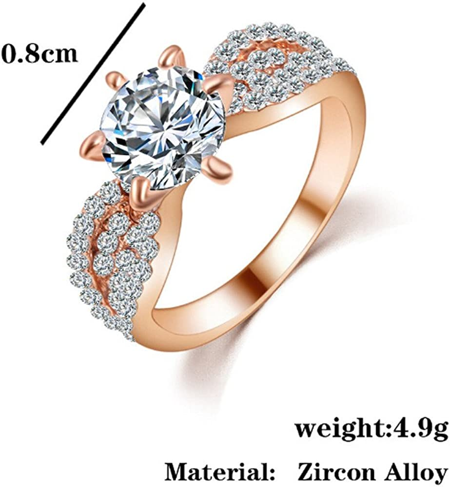 Beclgo Wedding Ring Zircon Rings Female Fashion Alloy Ring Ring Jewels