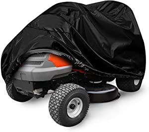2O2OUP Lawn Mower Cover, 54'Waterproof Riding Lawn Tractor Cover, 210D Heavy Duty Oxford Push Mower Cover, Protection Universal Fit for Your Ride-On Garden Tractor