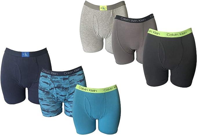 Calvin Klein - Calzoncillos calzoncillos de algodón elástico con logo en la cintura (paquete de 6): Amazon.es: Ropa y accesorios