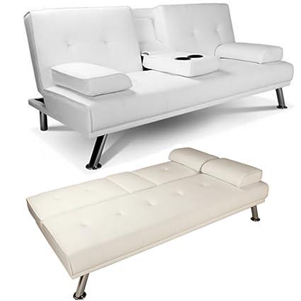 Sofá cama clic clac de 2 a 3 plazas de cuero sintético ...