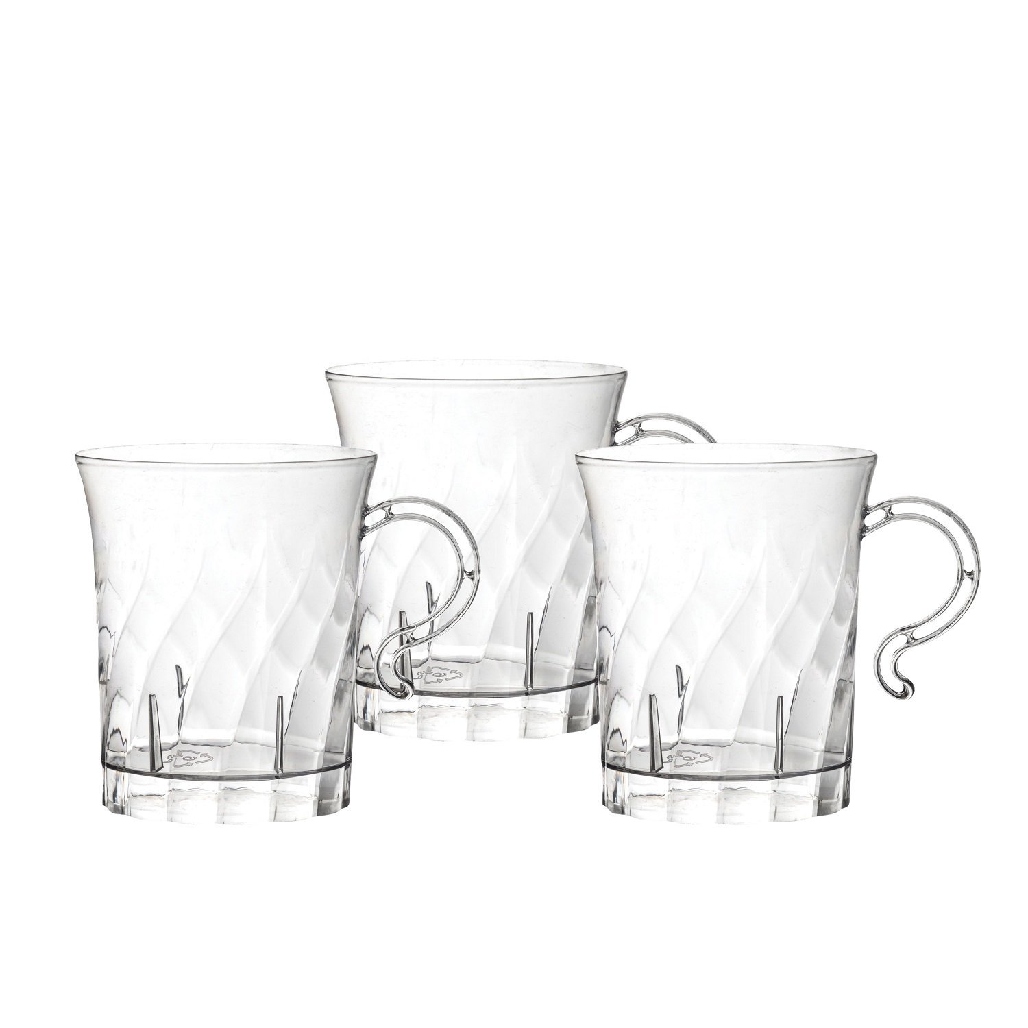 Party Essentials 10 Count Hard Plastic Swirled Coffee Cups 8 Oz Clear 4