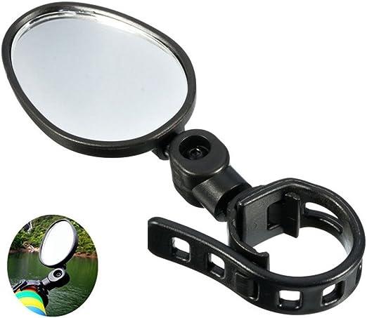 Espejo, Espejo retrovisor Giratorio de Gran Angular Ajustable de 13 x 5 cm, 360 °, Espejo Seguro para Bicicleta de Carretera de montaña: Amazon.es: Hogar