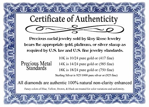 Roy Rose Jewelry 14K Yellow Gold Two Tone Puffed LOVE Heart & Diamond-cut Hearts Bracelet ~ Length 7'' inches by Roy Rose Jewelry (Image #3)
