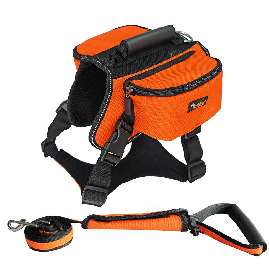 orange S.16x7x7cm orange S.16x7x7cm Jlxl Pet Dog Harness, Dual Use Chest Backpack Convenient Storage Bag Not Neck Adjustable Leash For Safety Solid Wear Resistant (color   orange, Size   S.16x7x7cm)