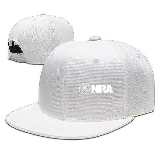 Adjustable Plain Hat Flat Brim Hat Unisex Men Women - NRA National ... 59024ce0e