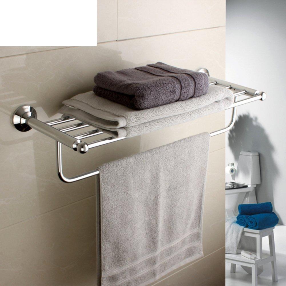 DIDIDD Shelf-Bathroom Hardware Accessories Towel Bar/European All-Copper Towel Rack/Double Towel Rack