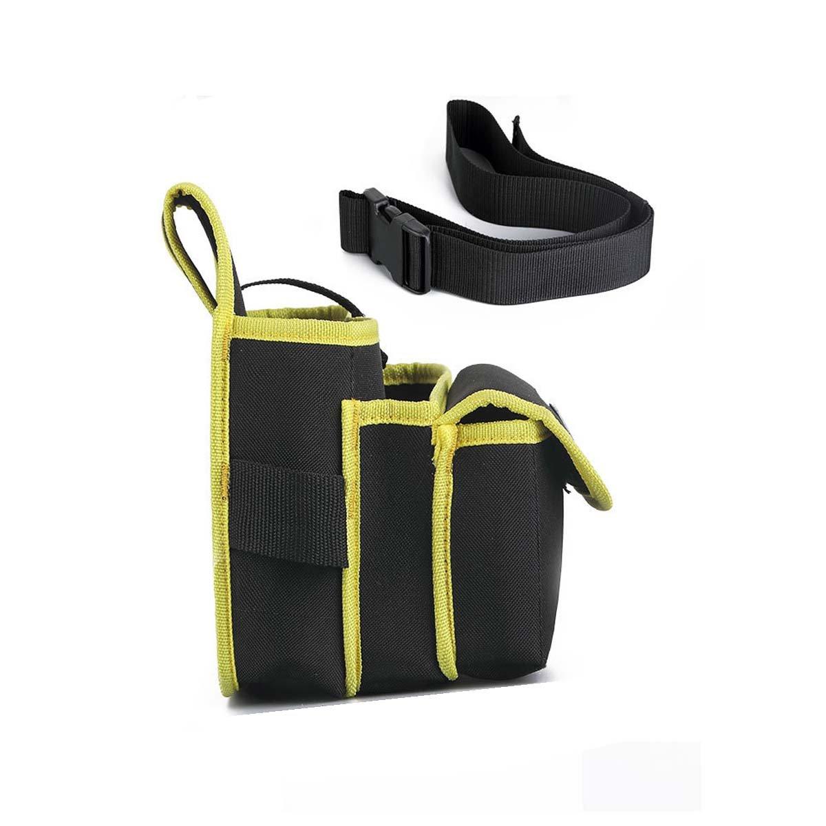 MASUNN Electricista Cintur/ón De Herramientas De Bolsillo Bolsa De Cintura Destornillador Herramienta De Utilidad Titular-Amarillo