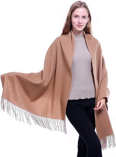 New Fashion Women/'s Solid Warm 100/% Cashmere Pashmina Scarf Wrap Shawl Stole