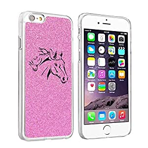 """Apple iPhone 6 (4.7"""") Glitter Bling Hard Case Cover Horse Head (Pink)"""
