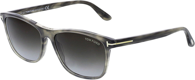 f6dce4b2266d6 Amazon.com  Tom Ford Men s Nicolo-02 FT0629-56B-58 Grey Rectangle  Sunglasses  Tom Ford  Clothing