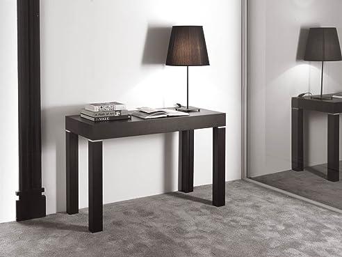 olbia esstisch konsole tisch zu lang ausziehbar modern beige matt real wood grain - Erweiterbare Konsole Esstisch