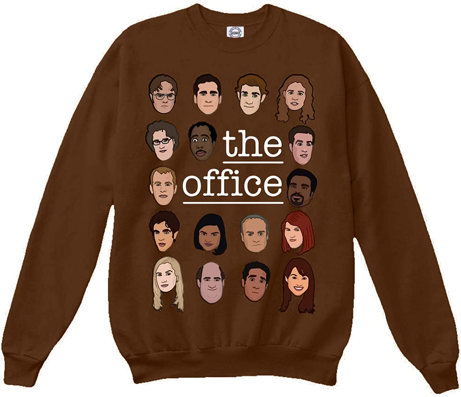superhotapparel The Office tv Show Sweatshirt cast Cartoon face Dwight Schrute Sweater Jumper Merchandise Gifts