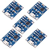 Icstation TP4056 Micro USB 5V 1A Lithium Battery Charging Module Charger Board with Indicator (Pack of 5)