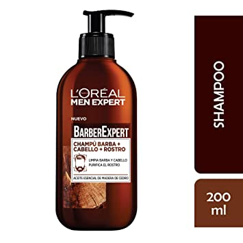 LOréal Paris Men Expert Barber Club- Champú 3 en 1, para Barba, Cabello y Rostro, Pack of 2 x 200 ml