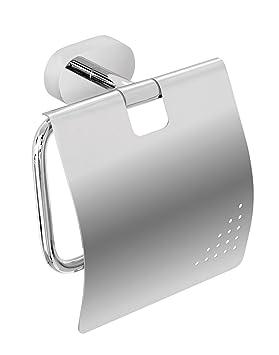 Nicol 7132300 Vesta Pared de Papel higiénico (con Tapa, latón Cromado, Brillante, Metal, Cromo, 6.00 X 12,90 X 12.70 cm: Amazon.es: Hogar