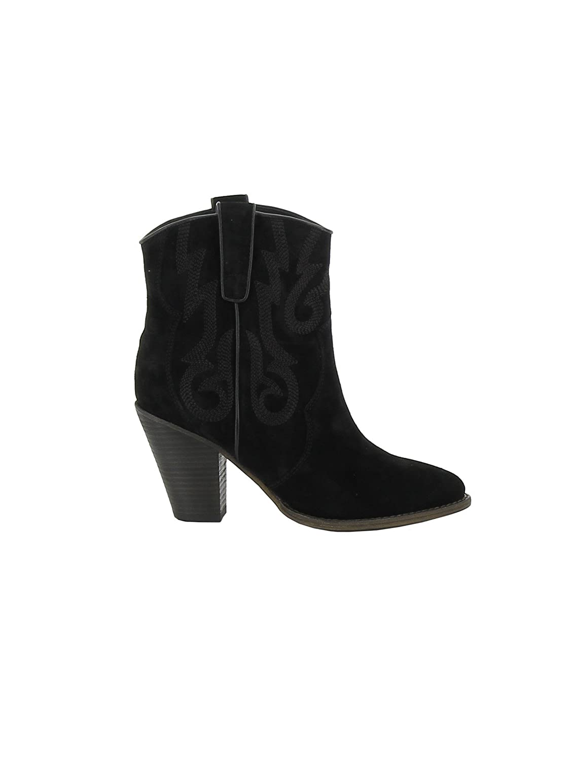 ASH WOMEN'S JOE001 BLACK SUEDE ANKLE BOOTS