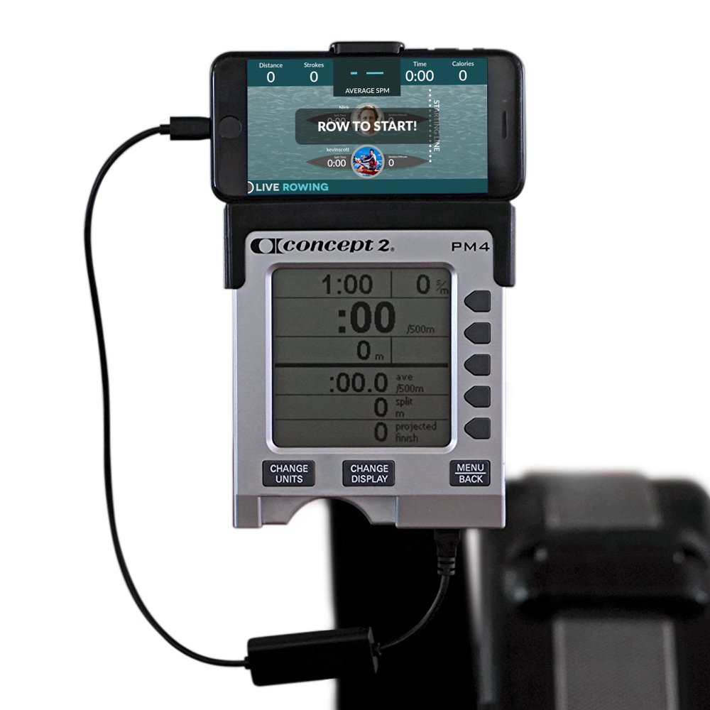 LiveRowing Concept 2 Connector for Smartphones - Rowing Machine Accessories for Your PM3, PM4, PM5 Erg Machine - Plus FREE LiveRowing App - (CRADLE NOT INCLUDED, FOR APLLE DEVICES ONLY)