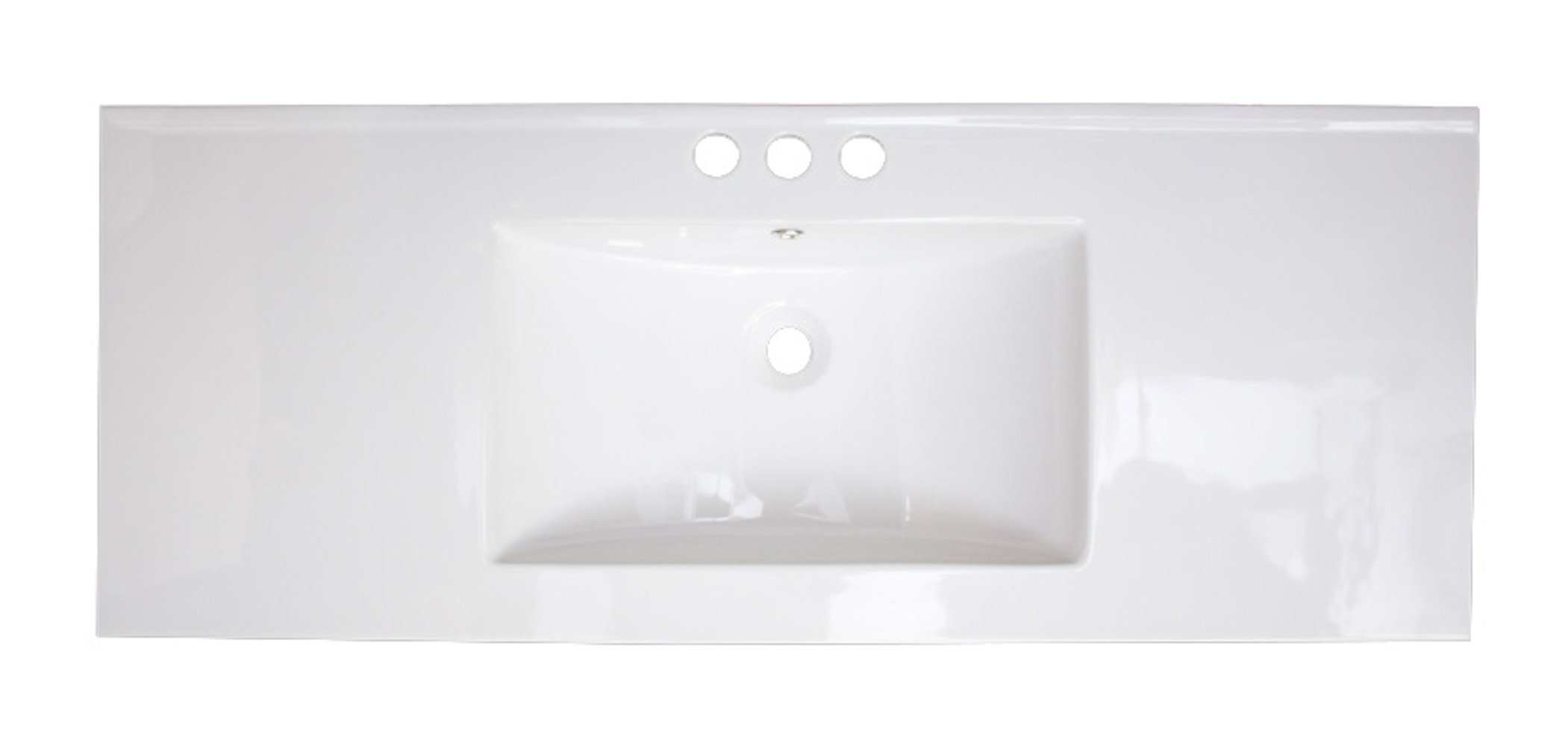 American Imaginations AI-4-1755 Ceramic Top for 8-Inch OC Faucet, 49-Inch x 22-Inch, White by American Imaginations