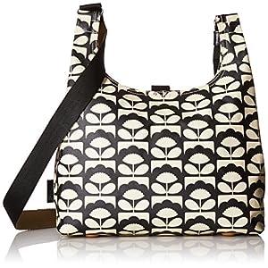 Orla Kiely Womens Midi Sling Bag Shoulder Bag Black (CHARCOAL)