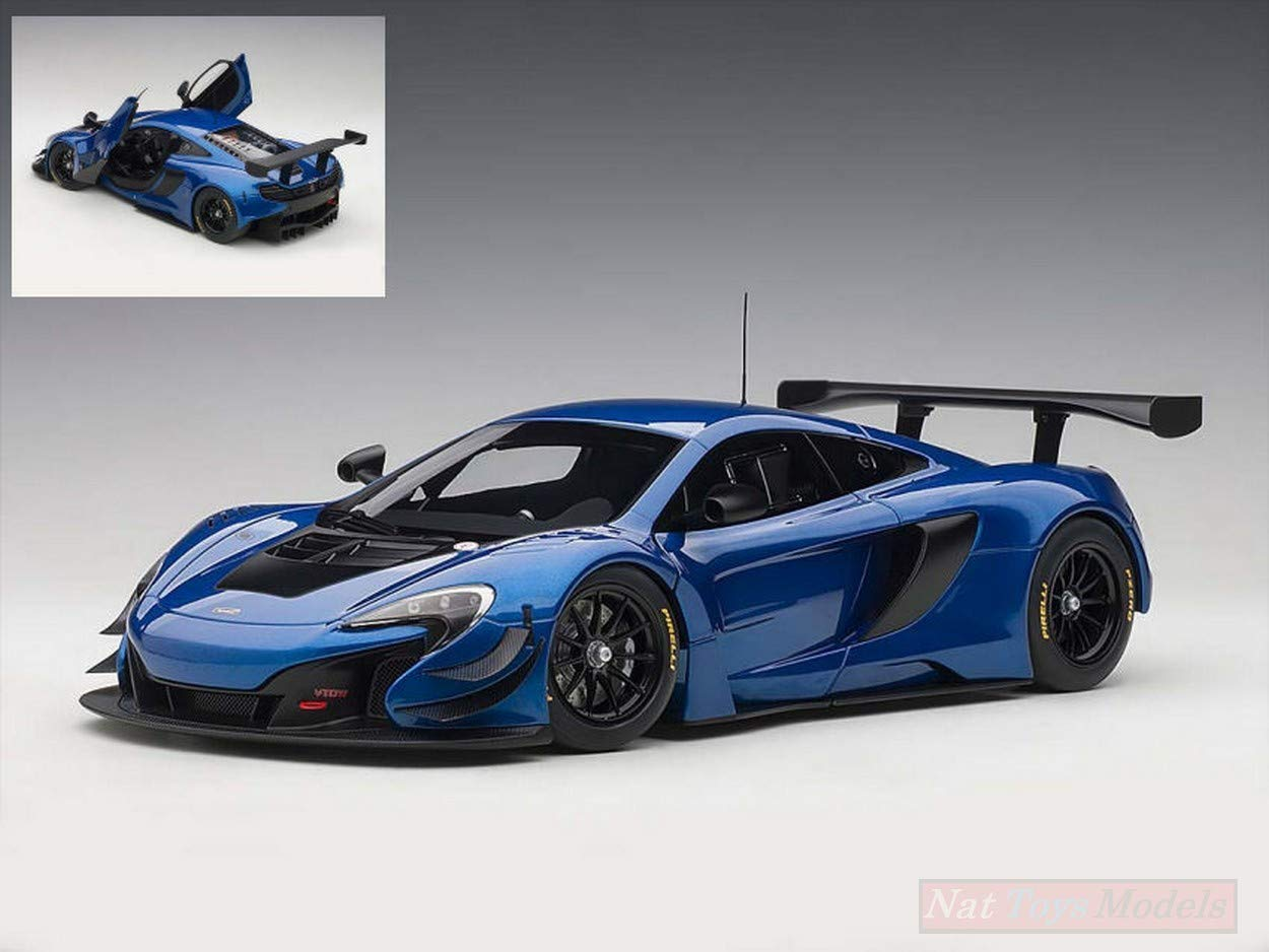 NEW AUTOART AA81641 MC Laren 650S GT3 blu nero 1 18 MODELLINO Die Cast Model