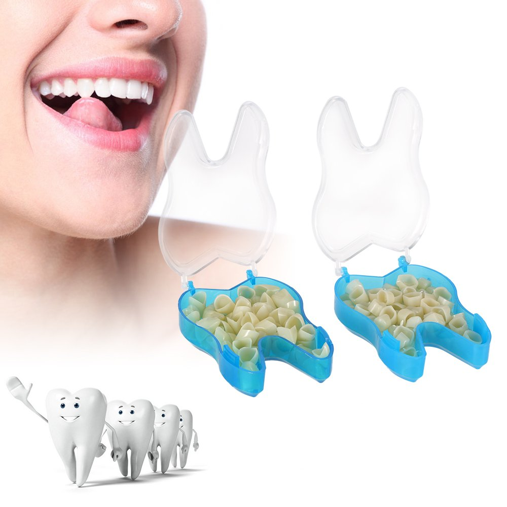 Anself 2packs Pro Dental Temporary Crown Dental Materials Anteriors Front & Molar Posterior Nature Color Teeth Dentist Products