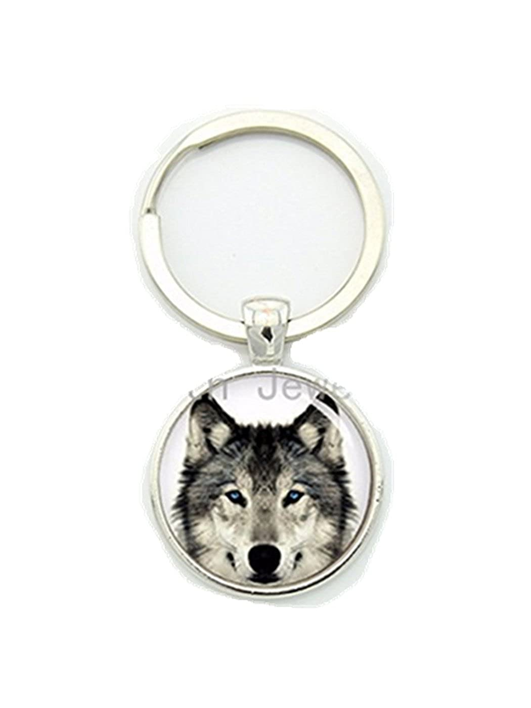 Amazon.com: Vintage nature wild life arctic wolf key chain ...