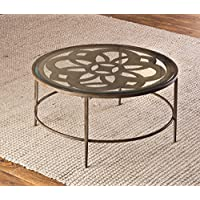 Hillsdale 5497-882 Marsala Coffee Table, 36, Gray Finish with Rubbed Brown Accents