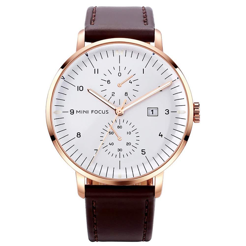 Reloj de Moda Cronógrafo de Cuarzo Impermeable Deportivo Casual Deportivo Reloj Dorado
