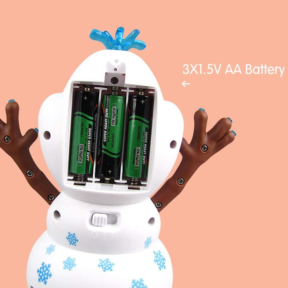 ZYBB Elektrische Tanzmusik Schneemann Spielzeug , Elektrische Gesangstanz Schneemann Roboter Spielzeug Mit Musik LED Blinklichter Baby P/ädagogische Geschenke 1PCS