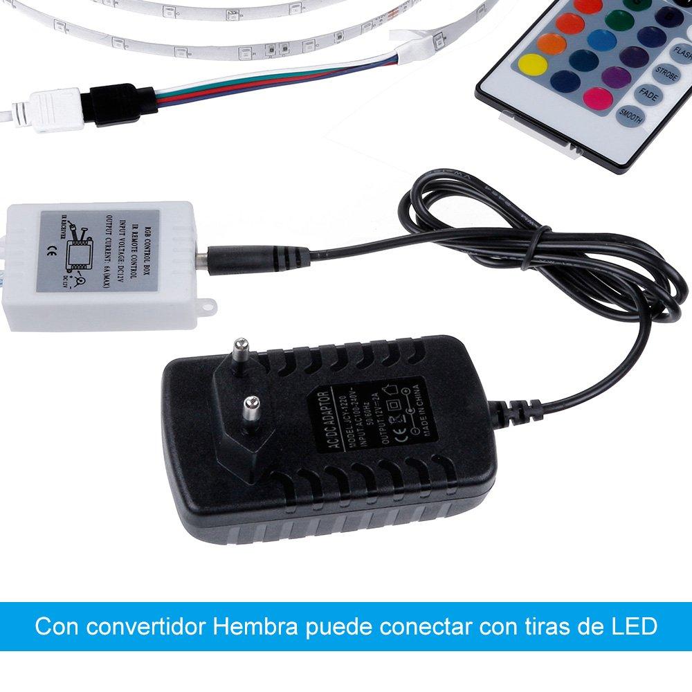 24W M/áximo Rovtop Adaptador de tira del LED 12V 2A,Transformadores// Fuente de Alimentaci/ón 100-240V a DC 12V para la Tira de la Energ/ía de los LED 3528//5050//5630 12V
