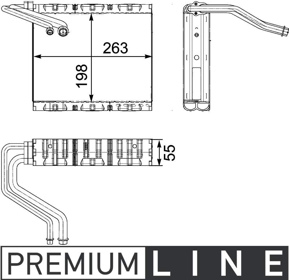 MAHLE AE 85 000P Verdampfer PREMIUM LINE