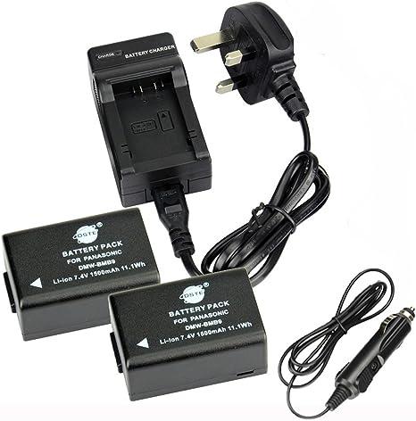 2x Batería para Panasonic Lumix DMC-FZ40 DMC-FZ45 DMC-FZ47 DMC-FZ70 Cargador