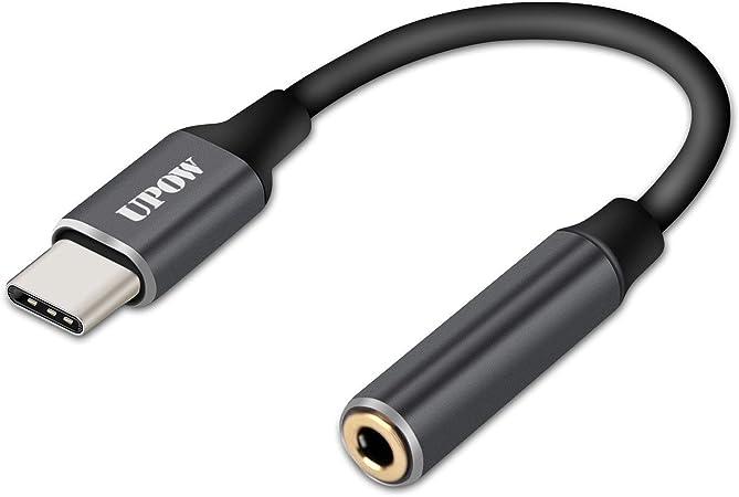 Typ C Auf 3 5 Mm Audio Adapter Upow Usb C Aux Adapter Elektronik