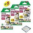 Fujifilm INSTAX Mini Instant Film 5 Pack 50 SHEETS (White) For Fujifilm Mini 8 and Mini 9 Cameras