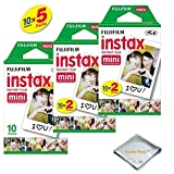 Photo : Fujifilm INSTAX Mini Instant Film (White) For Fujifilm Mini 8 & Mini 9 Cameras w/ Microfiber Cloth by Quality Photo (50 Film Sheets)
