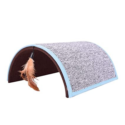 Zhao Xiemao Pet Toy Creative Tunnel Feathers Funny Cat Toy Carpet Bridge  Cat Scratch Board.