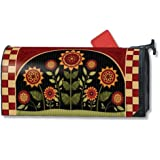 MailWraps Primative Sunflowers Mailbox Cover #01146