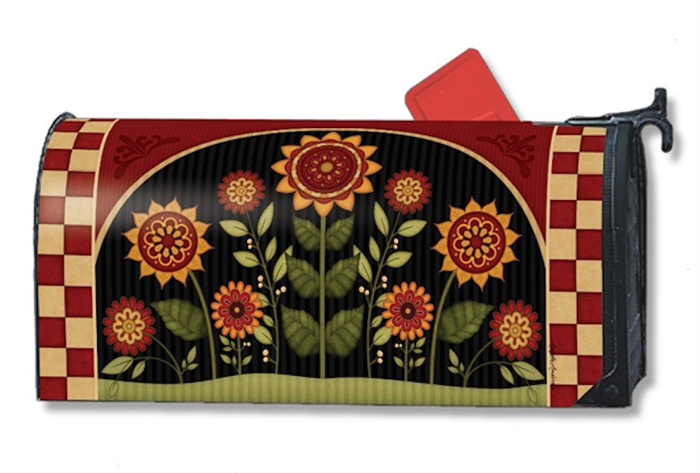 MailWraps Primative Sunflowers Mailbox Cover #01146 Magnetworks