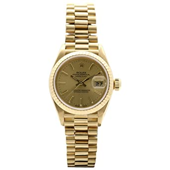 Amazon Com Rolex Oyster Perpetual Ladies Datejust 18k Yellow Gold