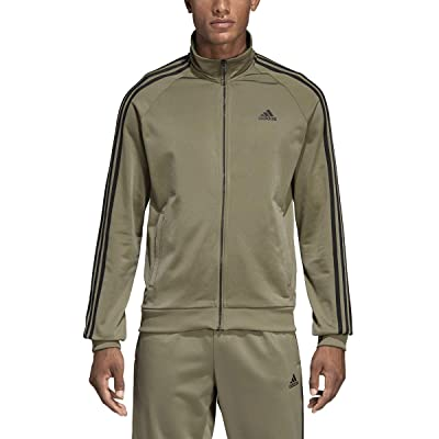 .com : adidas Essentials 3S Tricot Track Jacket Men's All Sports XL Trace Cargo : Sports & Outdoors