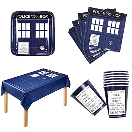 Amazon.com: Doctor Who Party Bundle - Juego de 16 platos de ...