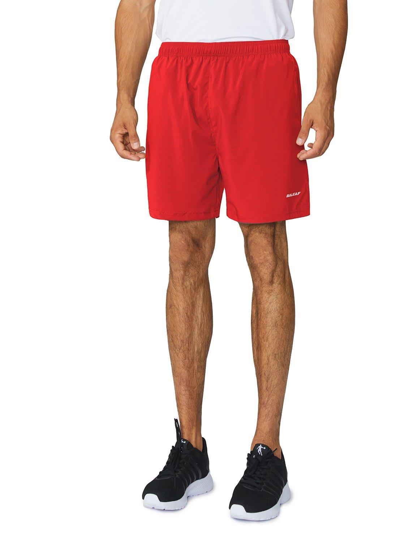 Baleaf Men's Woven 5 Running Workout Shorts Zipper Pockets