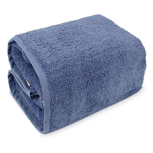 Bath Sheets Oversized: Indulge Linen Bath Sheets 100% Turkish Cotton Cornflower