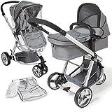 TecTake 3 en 1 Sillas de paseo coches carritos para bebes ...