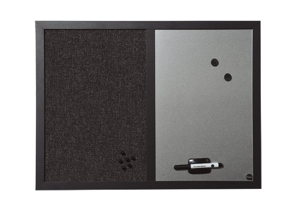 /Black 22/mm Thick Shadow Combination Board MDF Frame Textile Surface Bi-Silque Mx04433168/ Anthracite//Silver 60/x 45/cm Large
