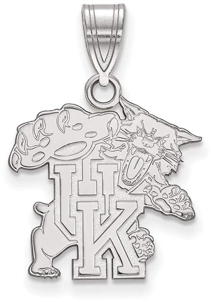 SS045UK Sterling Silver University of Kentucky Medium Pendant by LogoArt
