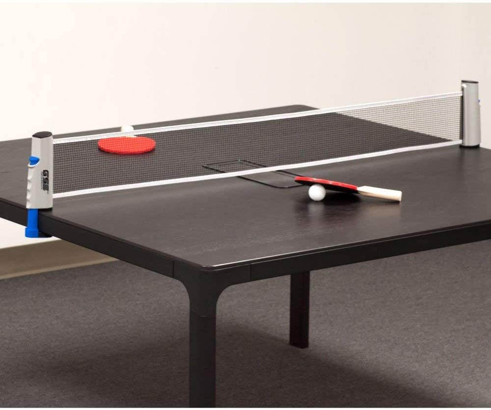 GSE Games & Sports Expert Anywhere Retractable Table Tennis Net and Post. Adjustable Replacement Ping Pong Net (4 Colors) (Gray) : Sports & Outdoors