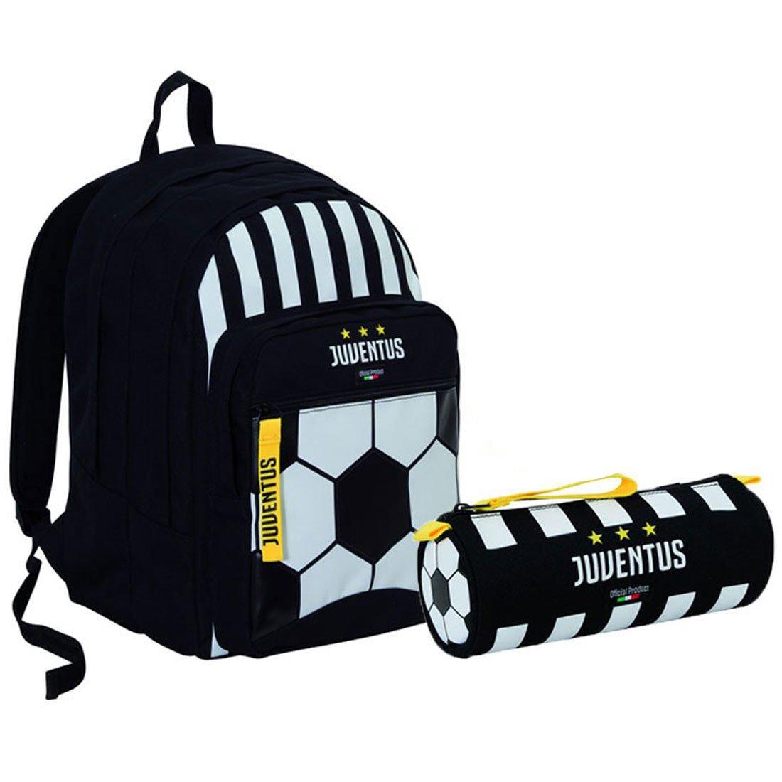 JUVE - Bolsa escolar  multicolor blanco / negro