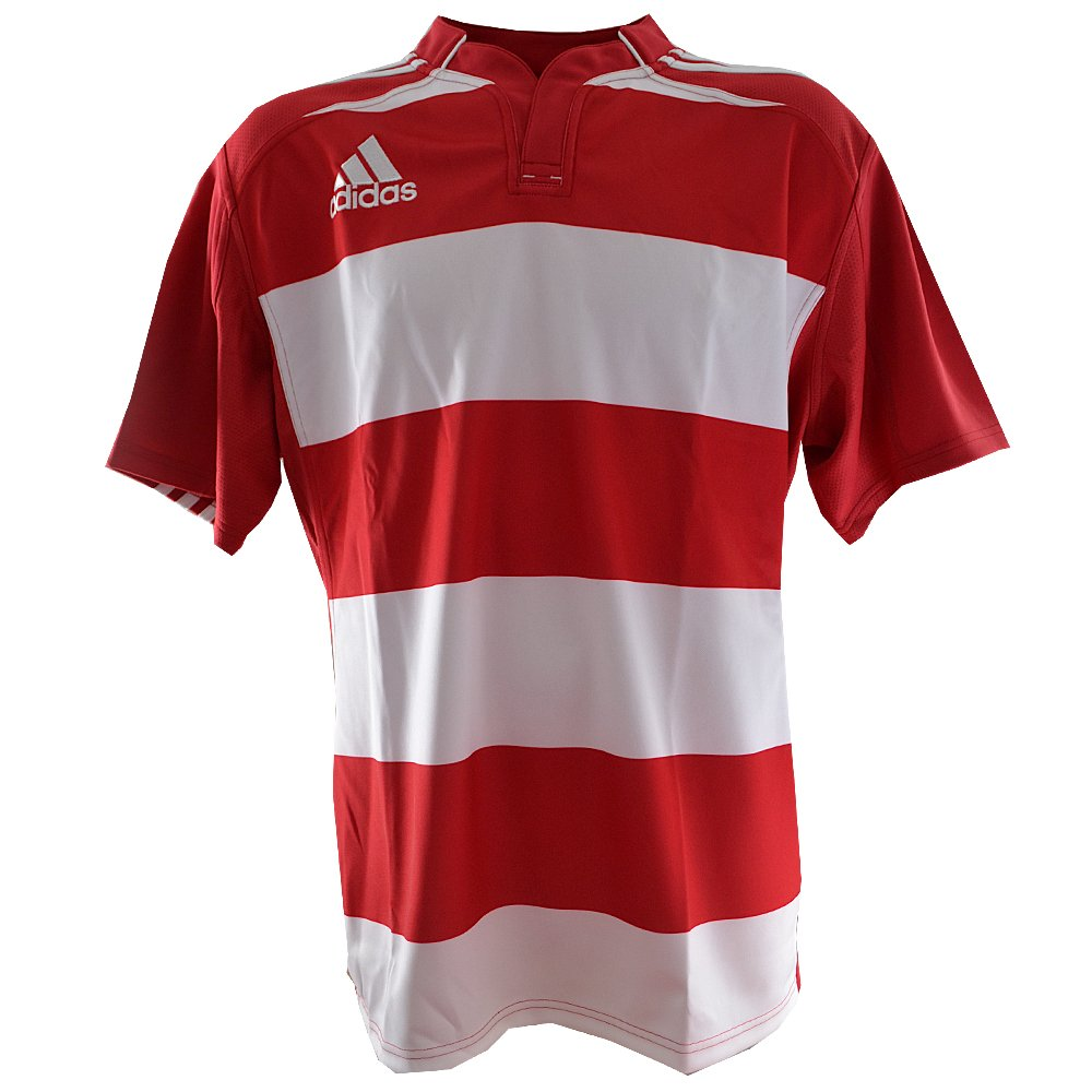 Maillot Rugby Hooped Blanc-Rouge O59594. Taille FR = 3XL adidas O59594-XXXL