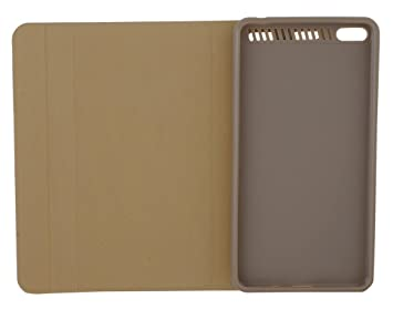 CELZO Leather High Quality Quality Tablet Flip Cover Case for Lenovo Phab Plus    Gold  Bags,Cases   Sleeves